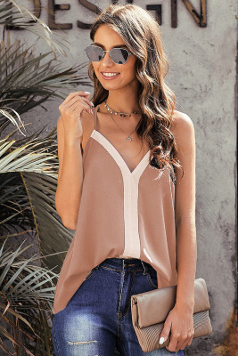 Khaki Bold Beautiful Racerback Tank