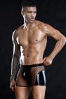 شورت بوكسر شبكي من الجلد المثلي للرجال