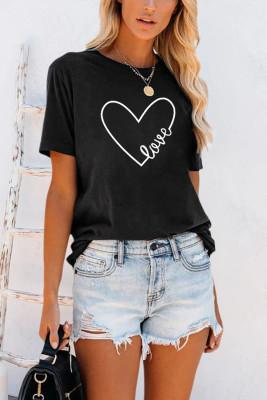 Camiseta con estampado de corazón