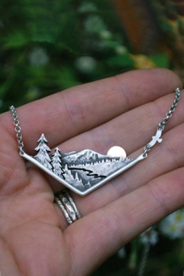 Silent Sunset In Nature Necklace