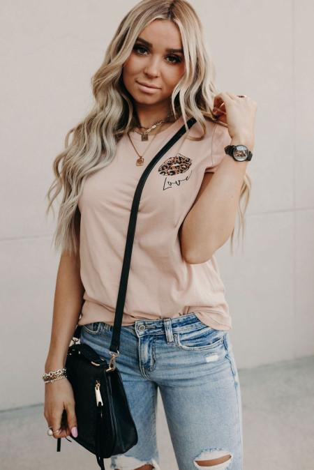 Camiseta con estampado Leopard Love