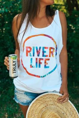 Camiseta sin mangas con estampado RIVER LIFE