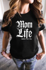 Camiseta Mom Life con cuello redondo
