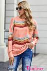 Pink Color Block Klassisches Sweatshirt