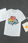 Camiseta Lucky Retro Rainbow Clover con gráfico