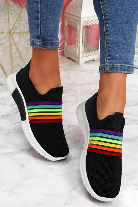 حذاء رياضي سهل الارتداء بألوان قوس قزح مسامي