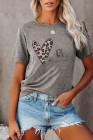 Серая футболка с леопардовым принтом BE Kind