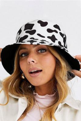 الأبقار طباعة قبعة الصياد دلو عكسها
