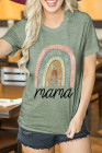Green mama Letter Graphics Print T-shirt