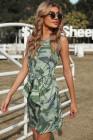 فستان قصير مطبع