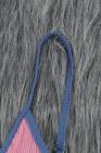 Бикини с высокой талией в рубчик в рубчик с цветными блоками