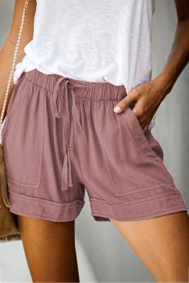 Shorts rosados de Tencel con bolsillos Strive