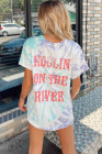 Camiseta estampada CCR Rollin 'On The River Letters