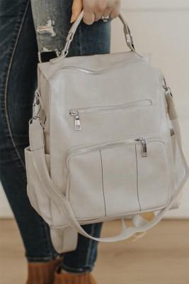 حقيبة ظهر قابلة للتحويل من الجلد النباتي البيج