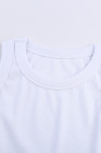 Solid White Round Neck Ribbed Tank Top