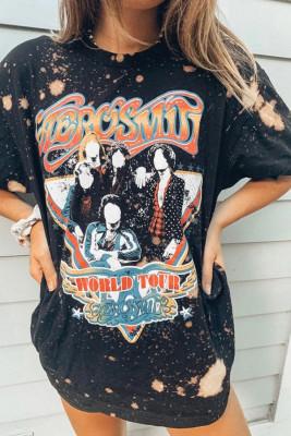 Camiseta vintage blanqueada de Aerosmith