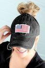 قبعة سوداء بعلم الولايات المتحدة الأمريكية