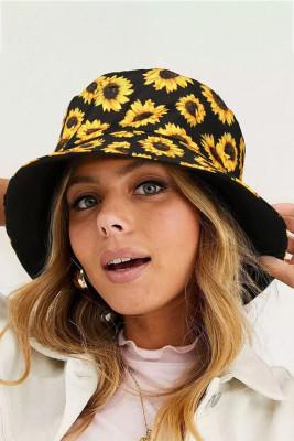 قبعة دلو للنساء عباد الشمس