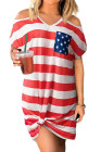 Vestido de mujer con bandera americana