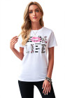 Leopard Mom Life Lips White T-Shirt