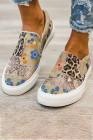 أحذية رياضية قماشية مطبوعة بنقشة الزهور الحيوانية