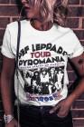 Camiseta gráfica DEF LEPPARD TOUR PYROMANIA