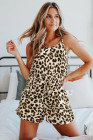 Leopard Print Tank Top and Shorts Lounge Set