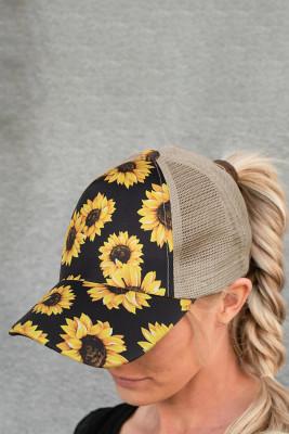 قبعة بيسبول شبكية بعباد الشمس