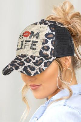 قبعة بيسبول بتصميم شبكة ليوبارد من MOM LIFE