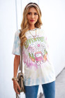 Camiseta con estampado SAY YES TO ADVENTURE Tie-Dye