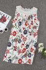Белое кружевное мини-платье с цветочным рисунком