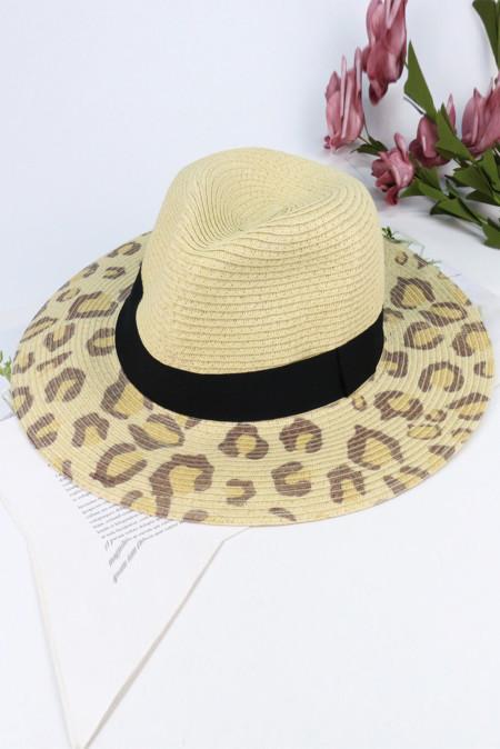 ليوبارد طباعة قبعة الحماية من الشمس في الهواء الطلق