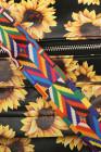 حقيبة ظهر سوداء عباد الشمس من البولي يوريثان
