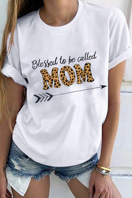 Blessed to be called Mom Graphic White T-shirt