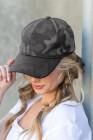قبعة مموهة باللون الرمادي على الطراز الكوري