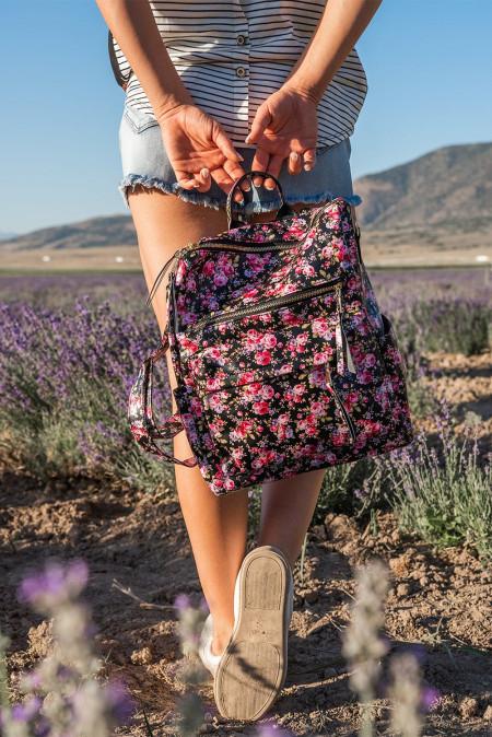 تزهر الزهور البريدي الإغلاق حقيبة ظهر من البولي يوريثان