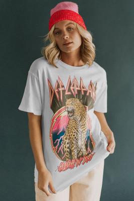 Винтажная футболка с рисунком DEF LEPPARD HIGH 'N' DRY