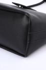 حقيبة ماسنجر كاجوال جلد نباتي أسود