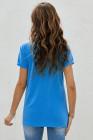 Camiseta estampada azul SOCCER MOM