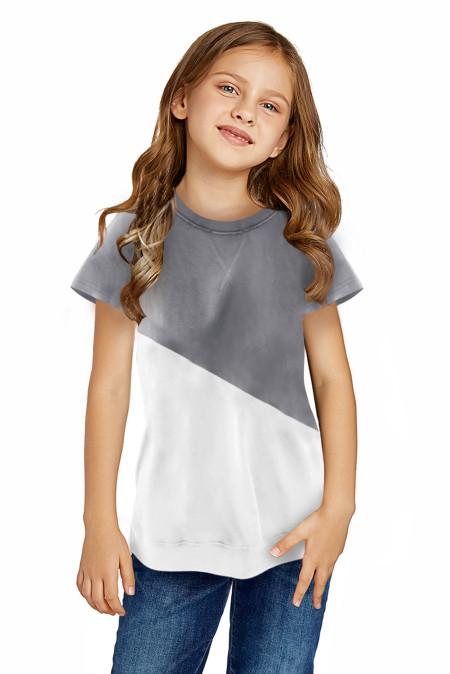 رمادي Colorblock الربط المحملة الفتاة الصغيرة