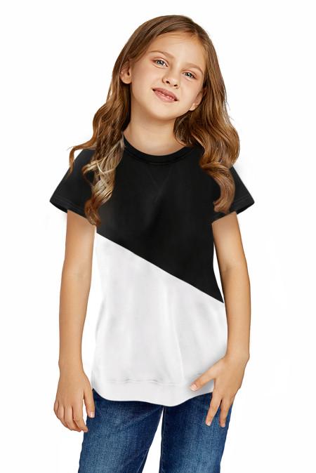 أسود Colorblock الربط المحملة فتاة صغيرة