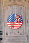العلم الأمريكي الزخرفية لوحة الباب شنقا زخرفة