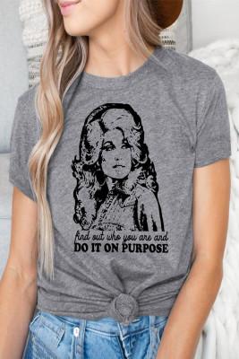 Серая футболка с рисунком DO IT ON POSE