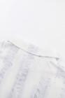 فستان قصير بأكمام قصيرة وربطة عنق أزرق فاتح
