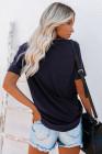 Camiseta con estampado de águila azul WORLD TOUR