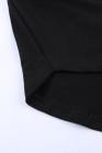 فستان أسود قصير برباط وجيوب