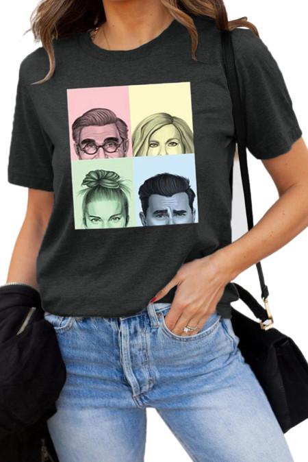Camiseta con estampado gráfico Portraits