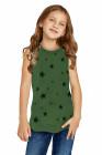 تانك فتاة صغيرة بطبعة نجمة خضراء