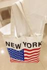 العلم طباعة نيويورك حقيبة قماش