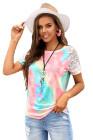 Вязаная крючком футболка с регланом Bright Tie-dye